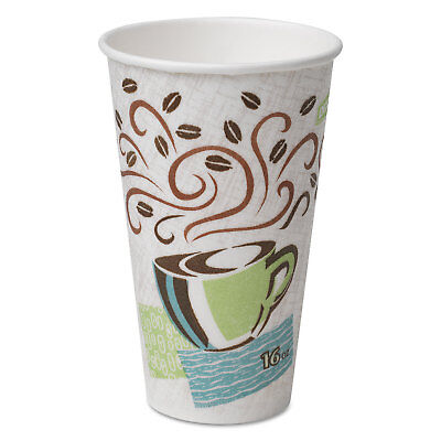 DIXIE FOOD SERVICE Hot Cups, Paper, 16oz, Coffee Dreams Design, 50/Pack