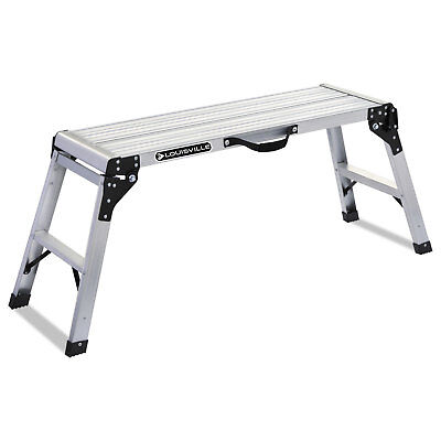 Louisville Aluminum Mini Working Platform Step Stool, 225 lb Cap, Aluminum