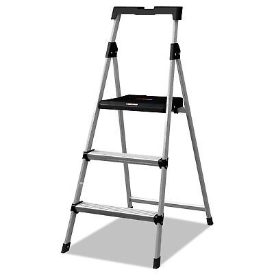 Louisville Aluminum Step Stool Ladder, 225 lb Capacity, 20w x 31 spread x 47h