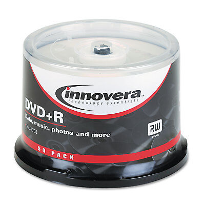 DVD+R Discs, 4.7GB, 16x, Spindle, Silver, 50/Pack