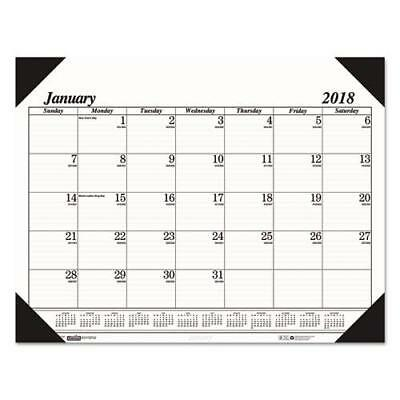 Recycled Workstation-Size One-Color Monthly Desk Pad Calendar, 18 1/2 x 13, 20