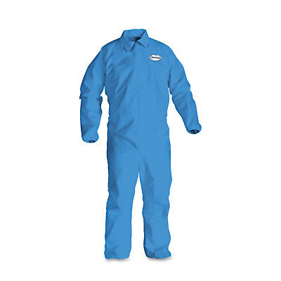 KleenGuard* A60 Elastic-Cuff, Ankle & Back Coveralls, Blue, 2X-Large, 24/Case