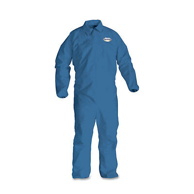 KleenGuard* A60 Elastic-Cuff, Ankle & Back Coveralls, Blue, Large, 24/Case