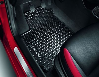 Genuine Kia Picanto 2017 > Full Set of Rubber Mats, RHD Only G6131ADE10GR
