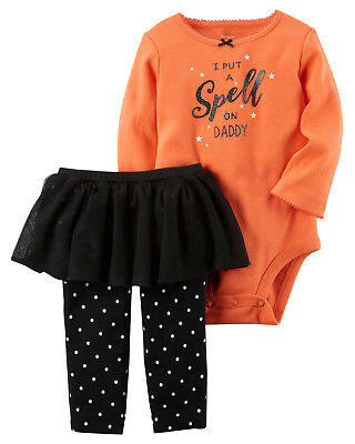 4f11365b6 BABY GIRLS CARTERS 2-pc Bodysuit Pant Set 3 18 Months Clothes Outfit ...