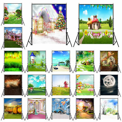 UK Photography Backdrop Studio Photo Background Props 3x5ft 5x7ft House Scenery