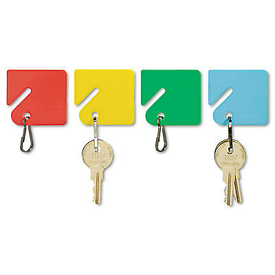 SteelMaster Slotted Rack Key Tags, Plastic, 1 1/2 x 1 1/2, Assorted, 20/Pack