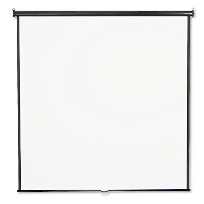 GBC Wall or Ceiling Projection Screen, 84 x 84, White Matte, Black Matte Casing