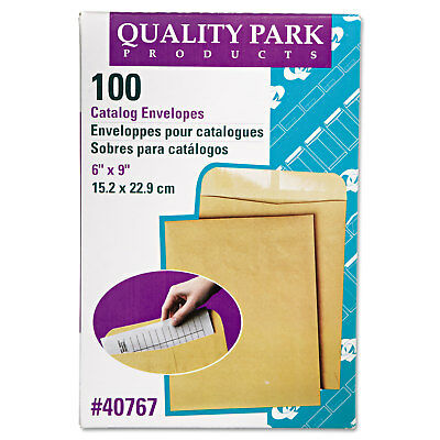 QUALITY PARK PRODUCTS Catalog Envelope, 6 x 9, Brown Kraft, 100/Box