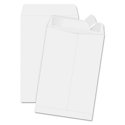 QUALITY PARK PRODUCTS Redi Strip Catalog Envelope, 6 1/2 x 9 1/2, White, 100/Box