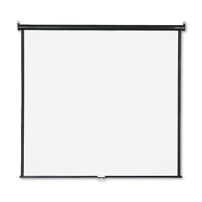 GBC Wall or Ceiling Projection Screen, 70 x 70, White Matte, Black Matte Casing