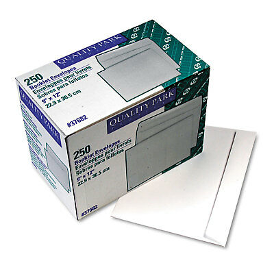 QUALITY PARK PRODUCTS Open Side Booklet Envelope, 9 x 12, White, 250/Box