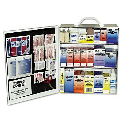 Industrial Station First Aid Kit, 440 Items, Metal Case