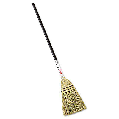 """RUBBERMAID COMMERCIAL PROD. Lobby Corn-Fill Broom, 38"""" Handle, Brown"""