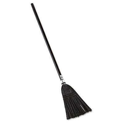 """RUBBERMAID COMMERCIAL Lobby Pro Synthetic-Fill Broom, 37 1/2"""" Height, Black"""