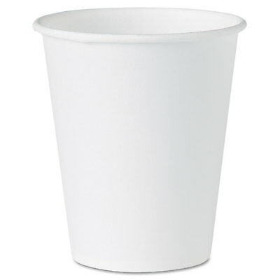 Dart White Paper Water Cups, 4oz, White, 100/Pack