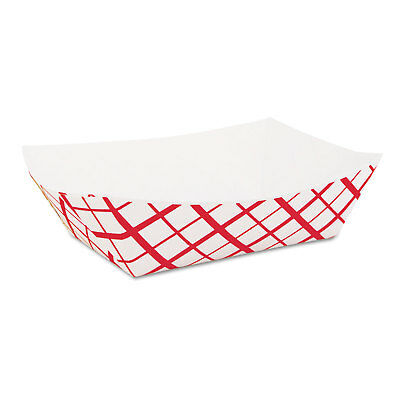SOUTHERN CHAMPION TRAY Paper Food Baskets, 2lb, Red/White, 1000/Carton