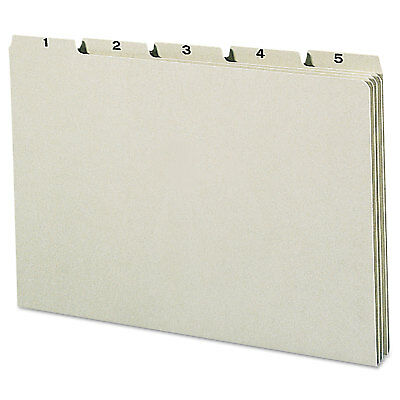 Smead Recycled Top Tab File Guides, Daily, 1/5 Tab, Pressboard, Legal, 31/Set