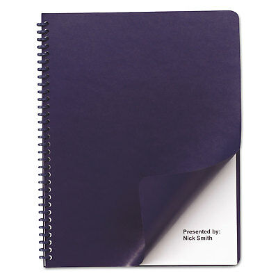 Leather Look Binding System Covers, 11 x 8-1/2, Navy/Navy, 100 Sets/Box
