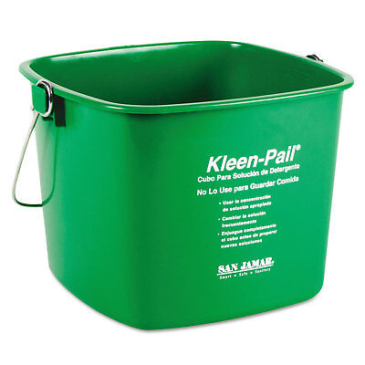 San Jamar THE COLMAN GROUP, INC Kleen-Pail, 6qt, Plastic, Green, 12/Carton