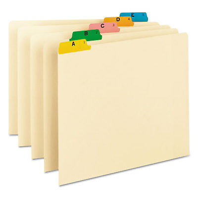 Smead Recycled Top Tab File Guides, Alpha, 1/5 Tab, Manila, Letter, 25/Set