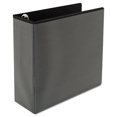 "Deluxe Easy-to-Open D-Ring View Binder, 4"" Capacity, 8-1/2 x 11, Black"