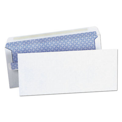 Self-Seal Business Envelope, Security Tint, #10, 4 1/8 x 9 1/2, White, 500/Box