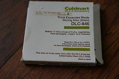 Cuisinart DLC-8 accessory thick expanded blade slicing disc 6mm DLC-846 Japan
