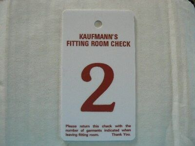 Kaufmanns Department Store Fitting Room Check Number 2  Pittsburgh, Pennsylvania