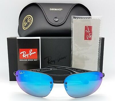 NEW Rayban Sunglasses RB4275CH 601/A1 63 Black Blue Chromance Polarized HD 4275