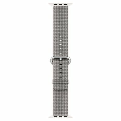 New Open Genuine Apple 42mm Pearl Apple Watch Woven Nylon Band- MMA72AM/A