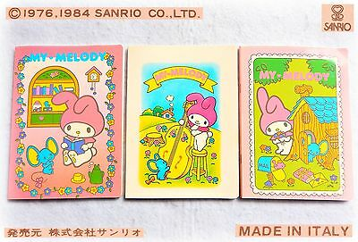 Sanrio Vintage MY MELODY 1984 3 QUADERNI collezione Cute Notebooks Made in ITALY