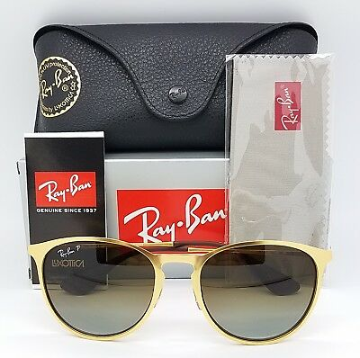 73a1c15362f NEW Rayban Erika Metal Sunglasses RB3539 112 T5 54 Gold Brown Gradient  Polarized