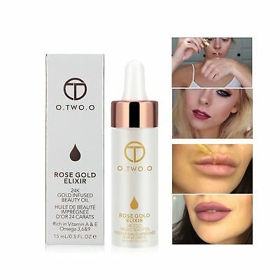 O.TWO.O 24k Rose Gold Elixir Skin Make Up Oil Infused Beauty Oil Essential Oi...