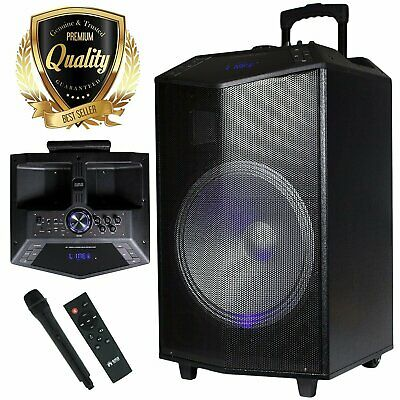 PKL105 1500W 15 inch Power Party Bluetooth / USB / Rechargeable Portable Speaker
