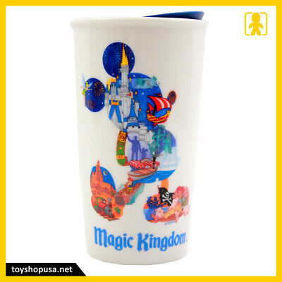 Starbucks Disney Magic Kingdom Mickey Ceramic Tumbler Travel Mug Disney Parks