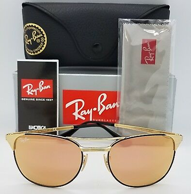 8b7f3131332 NEW Rayban Signet Sunglasses RB3429M 9000Z2 55 Black Gold Copper Pink 3429  1953