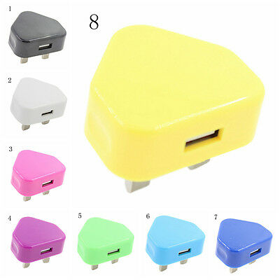 UK Plug Mains Wall 3 Pin USB Power Adaptor Charger For Mobile Phone Tablet M&