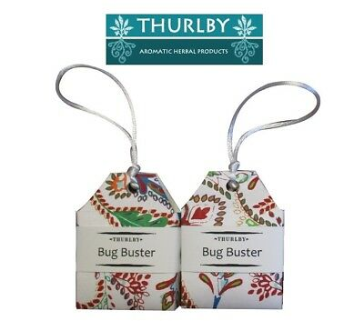 2 x Thurlby Herb Farm Herbal Moth Ball Pentimento Bug Busters Made in Australia