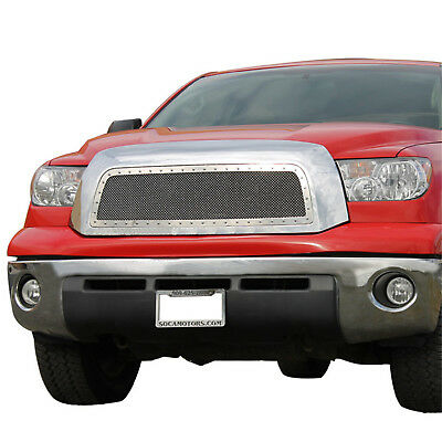 07-09 Toyota Tundra Grille Grill Rivet Stud Chrome Stainless Steel Mesh Packaged