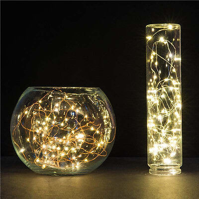 5M 50LED LED Patio Light Copper Wire String for Christmas Garland Warm White