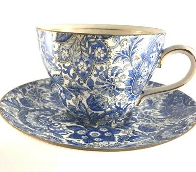 Old Foley James Kent 5663 Paisley Oversize Father Cup & Saucer