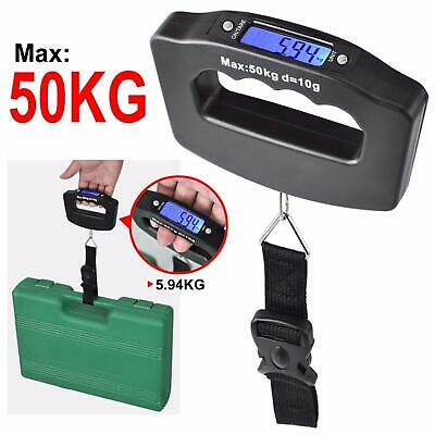 LCD Travel Electronic Portable Digital Luggage Weight Hanging Scale Up to 50KG