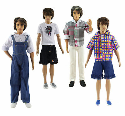 New 4 PCS Fashion Outfits/Clothes/Uniform For 12 inch Ken Doll