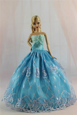Blue Fashion Princess Party Dress/Evening Clothes/Gown For 11.5in.Doll Y330U