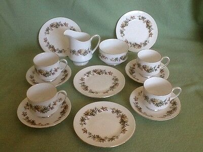 "ROYAL STANDARD Fine Bone China ""Lyndale"" 4 Person Tea Party Cups Plates Jug Bowl"
