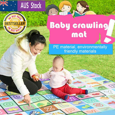Child Infant Baby Kids Crawling Game Waterproof Floor Play Mat Rug Double-Side K