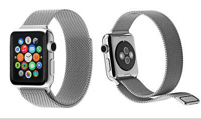 GPCT Stainless Steel Milanese Loop Mesh Band For Apple Watch Silver 38mm NEW