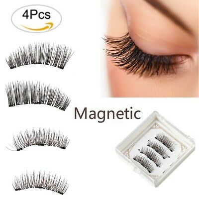4pcs Faux Cils Magnétique Réutilisable 3D Naturel Extension Aimants Disponibles