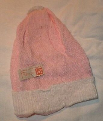Puppenbabymütze rosa/weiss/ skull cap for a baby doll pink/white